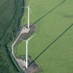 Turbiny wiatrowe z lotu ptaka